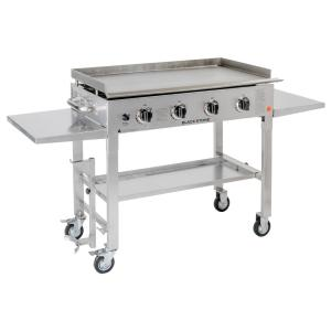 Click here to buy Blackstone 36 inch 4-Burner Propane Gas Grill in Stainless Steel with Griddle Top by Blackstone.