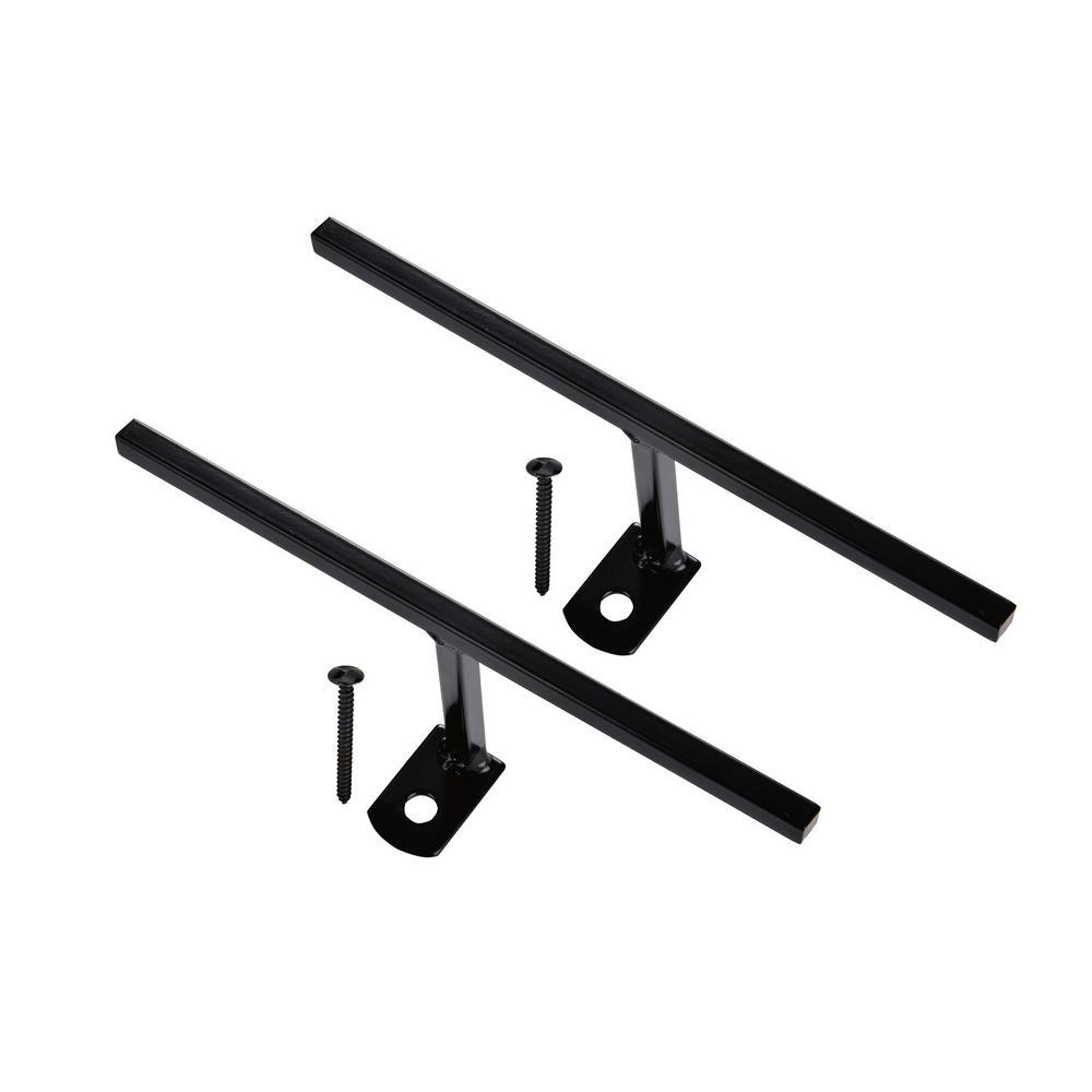 Black Window Bar T-Bracket Connectors (2-Pack)