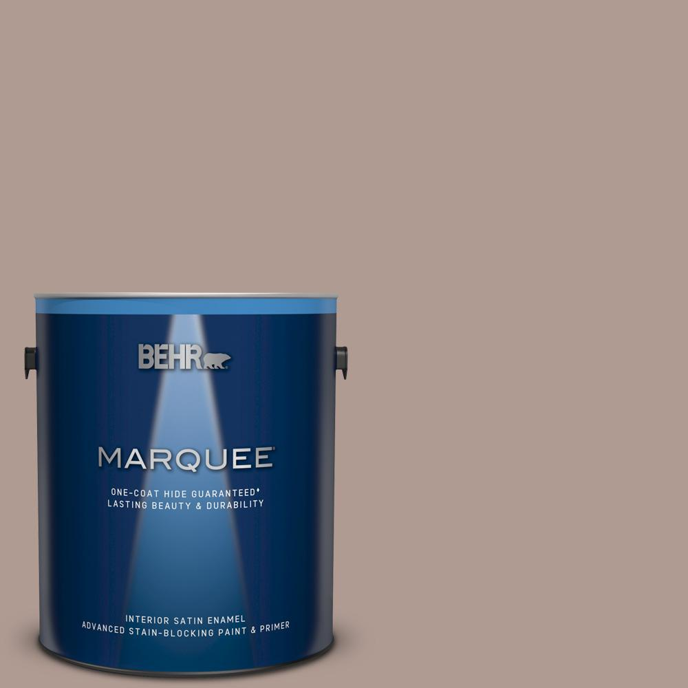 Behr Marquee 1 Gal N170 4 Coffee With Cream One Coat Hide Satin Enamel Interior Paint And Primer In One 745401 The Home Depot