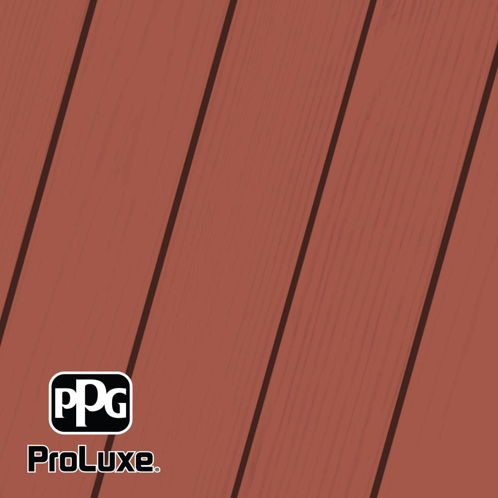 PPG ProLuxe 5 gal. Premium #HDGSIK710-052 Navajo Red Solid Stain Wood Finish