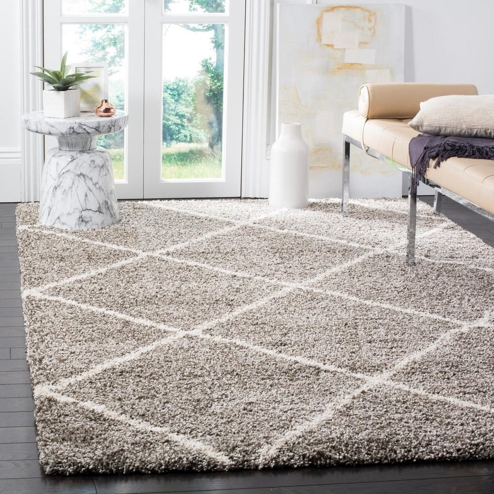Safavieh Hudson Shag Gray Ivory 8 Ft X 10 Area Rug