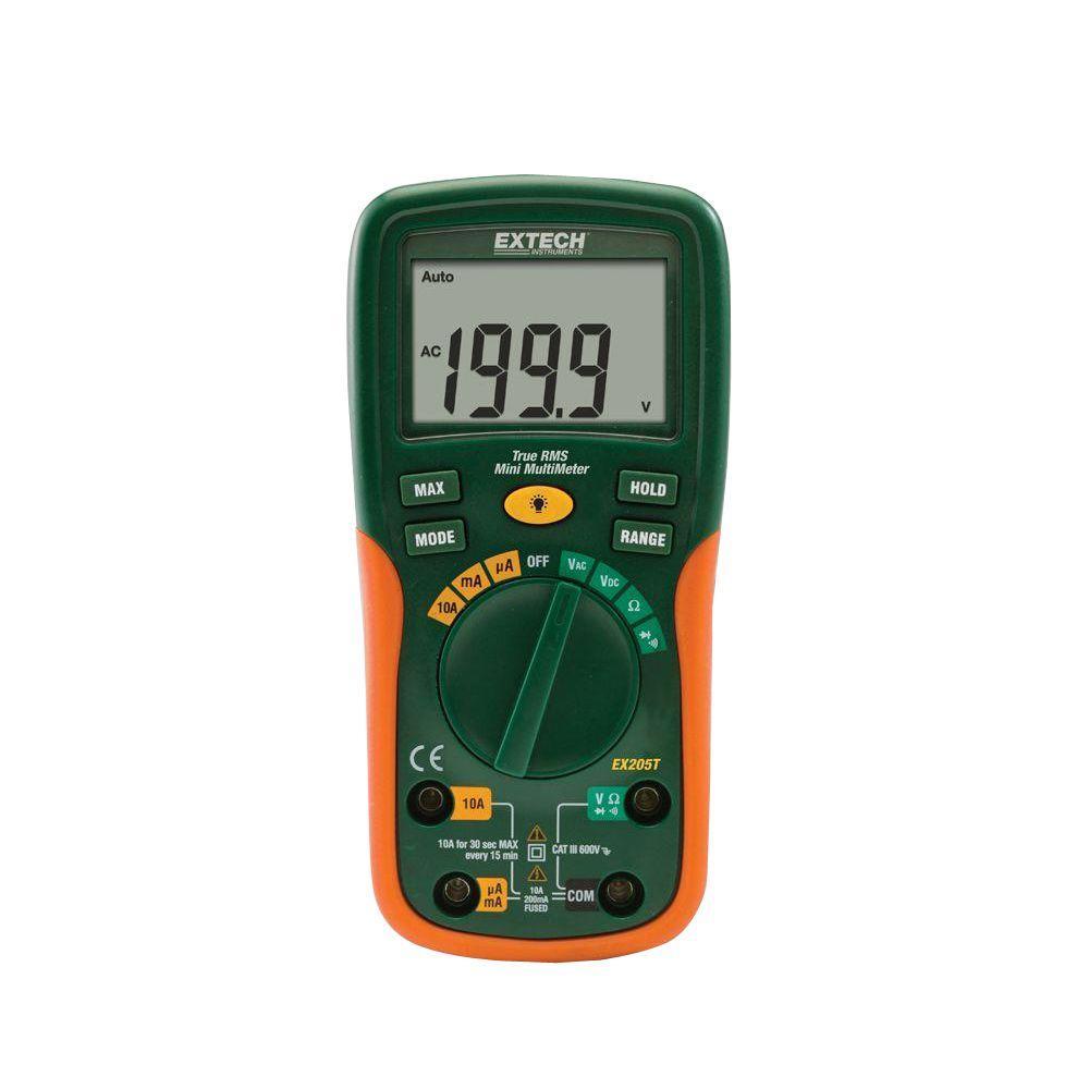extech instruments true rms digital multimeter ex205t the home depot rh homedepot com