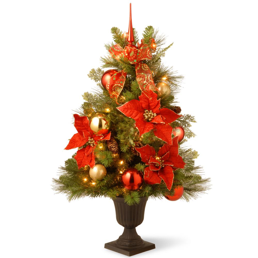 Decorative Collection Home For The Holidays Entrance Artificial Christmas Tree With Clear Lights