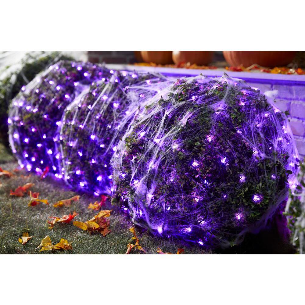 4ft. x 6 ft. 300 Purple Mini LED Net Lights
