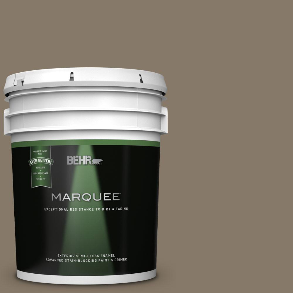 Behr Marquee 5 Gal 740d 6 Mountain Elk Semi Gloss Enamel Exterior Paint And Primer In One 545305 The Home Depot
