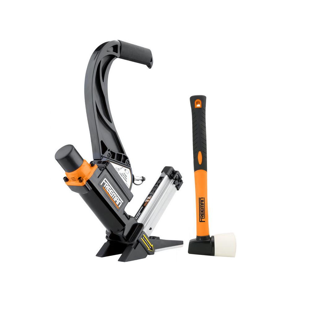 2-in-1 16-Gauge Lightweight Flooring Nailer with Plastic Handle