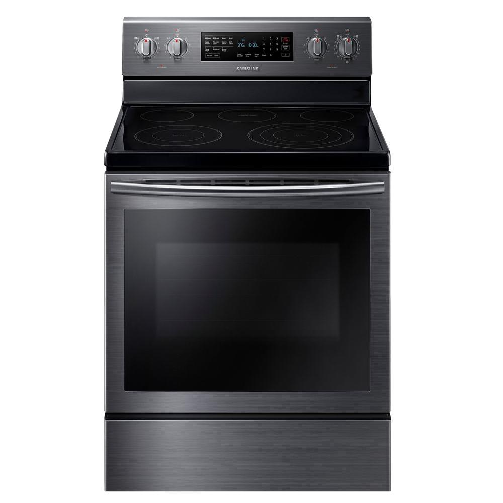 Electric Range With Self Cleaning Convection Oven In Fingerprint Resistant Black Stainless Ne59j7630sg The Home Depot