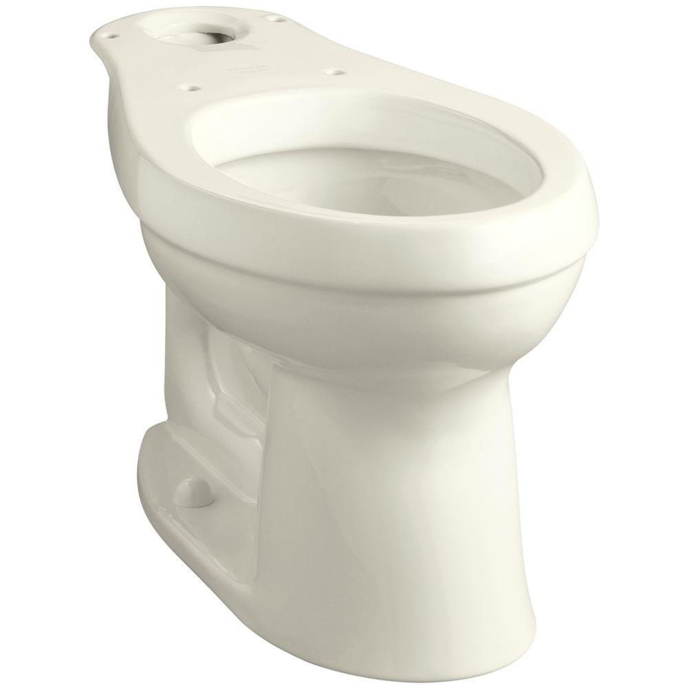Cimarron Comfort Height Elongated Toilet Bowl Only in Biscuit