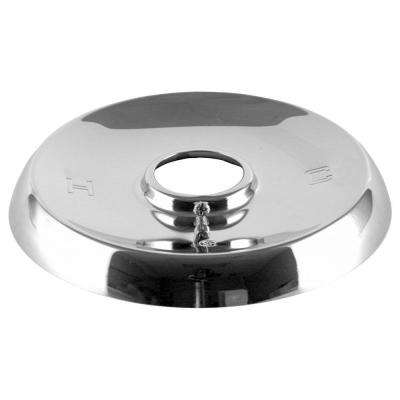 5-1/2 in. 1-Handle Tub and Shower Faucet Escutcheon for Mixet Faucets Non-Pressure Balanced Valves in Chrome