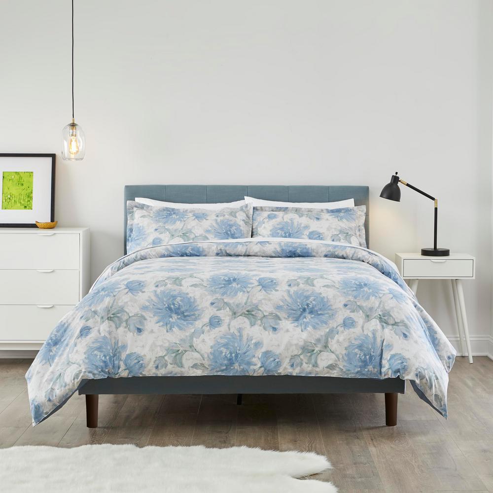 Stylewell Corinne 3 Piece Floral Full/Queen Comforter Set