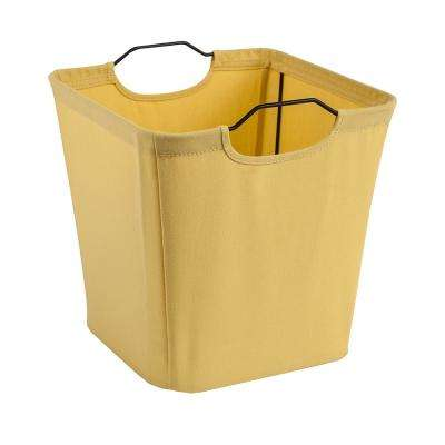 10.5 in. W x 11 in. H x 10.5 in. D Yellow Wire Framed Fabric Drawer