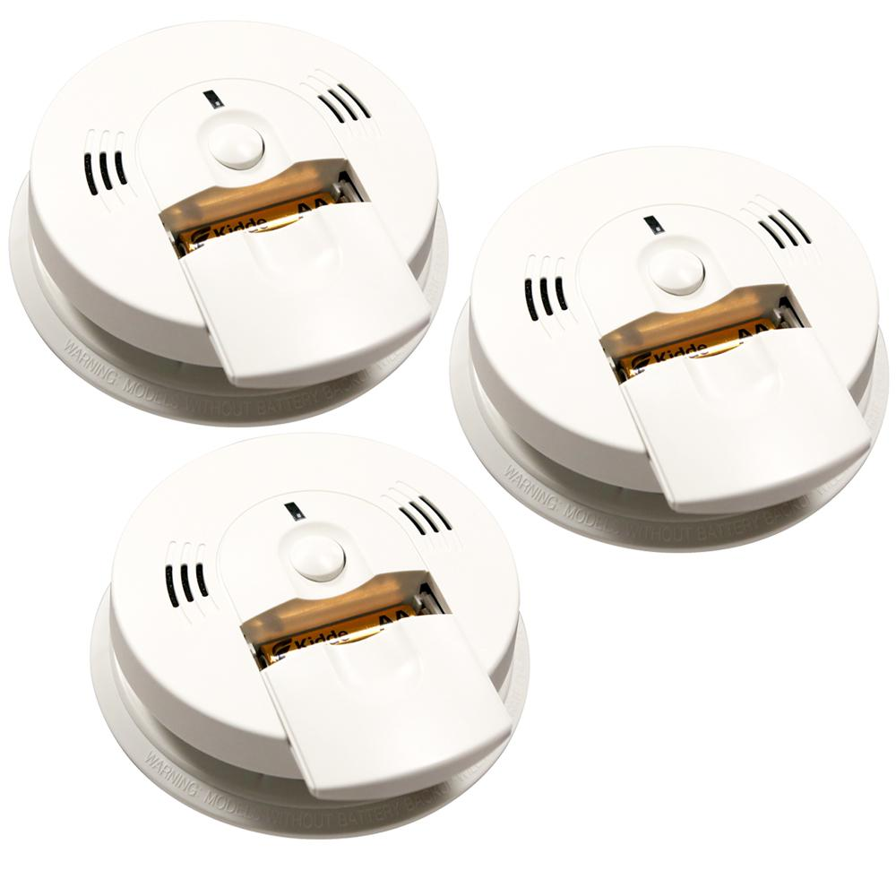 Kidde Code One Battery Operated Combination Ionization Smoke and Carbon Monoxide Detector with Voice Warning (3-Pack)
