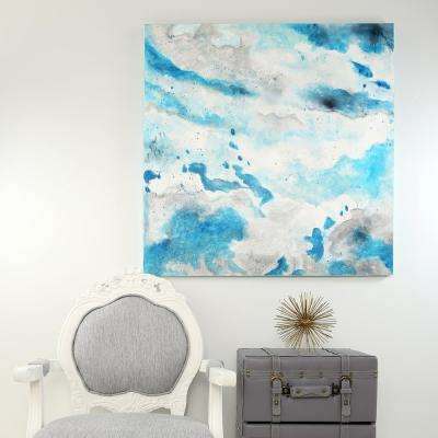 36 in. x 36 in. Clouds in the Sky Abstract Watercolor Printed Canvas Wall Art