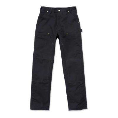 Men's 32x36 Black Cotton Straight Leg Non-Denim Bottoms