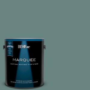 Behr Marquee 1 Gal Ppf 37 Rocky Creek Satin Enamel Exterior Paint And Primer In One 945301 The Home Depot
