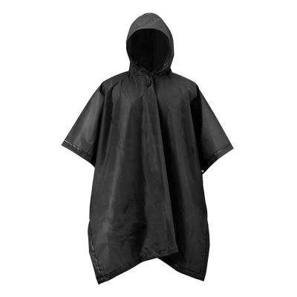 XT Series One Size Black Adult Rain Poncho