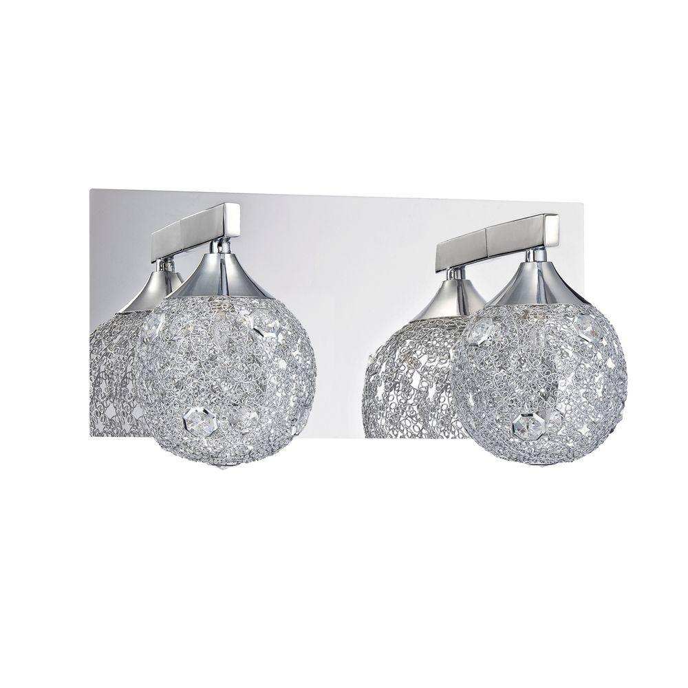 Designers Choice Collection SOLARO Series 2-Light Chrome Bath Light