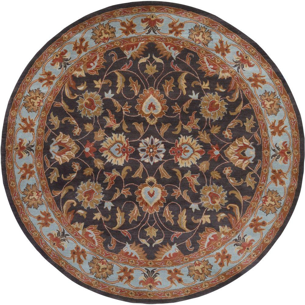 John Pale Blue 8 ft. x 8 ft. Round Area Rug