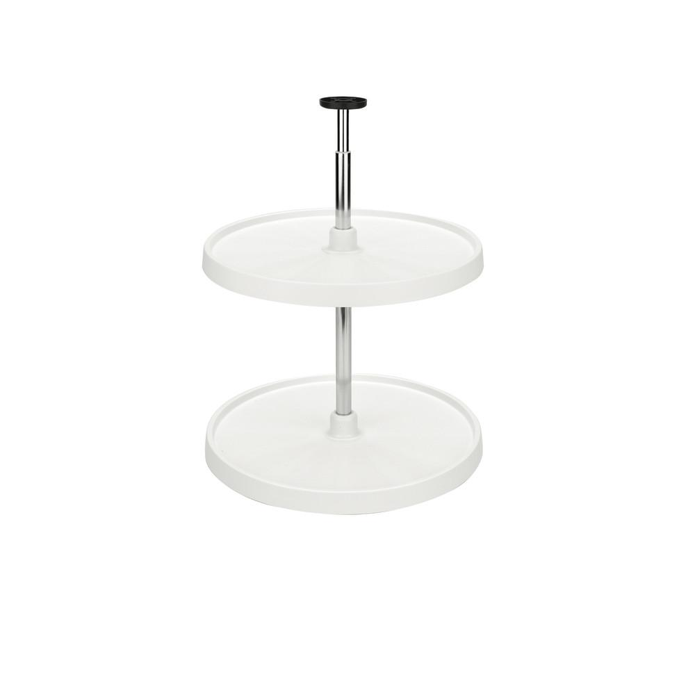Rev-A-Shelf 26 in. H x 20 in. W x 20 in. D White Value Line Full Circle Lazy Susan 2-Shelf Set