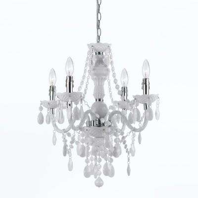 Naples 4-Light White Mini Chandelier
