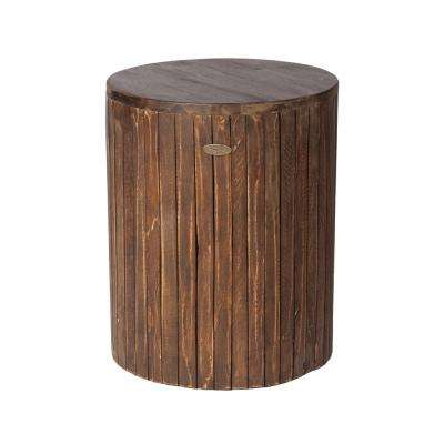 MIchael Round Wood. Wood   Outdoor Side Tables   Patio Tables   The Home Depot