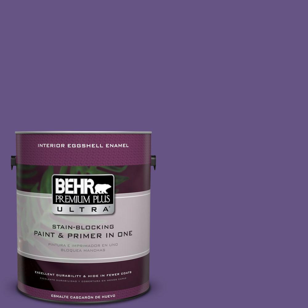 BEHR Premium Plus Ultra 1-gal. #640B-7 Berry Jam Eggshell Enamel Interior Paint