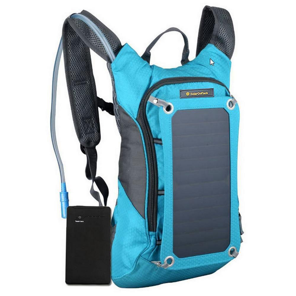 Solar Hydration Backpack, 10k mAh battery, 7-Watt Solar P...