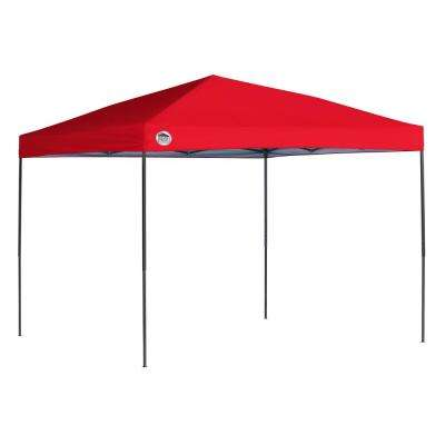 ST100 10 ft. x 10 ft. Red Straight Leg Canopy