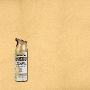 11 oz. All Surface Metallic Pure Gold Spray Paint and primer in 1