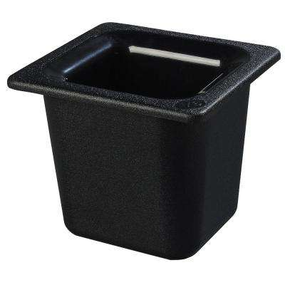 Coldmaster 6 in. Sixth Size Deep Black Standard Food Pan