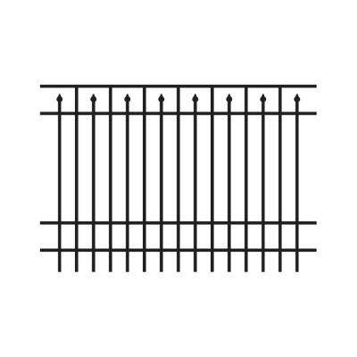 6 ft. H x 6 ft. W Adams Aluminum Black Fence Section