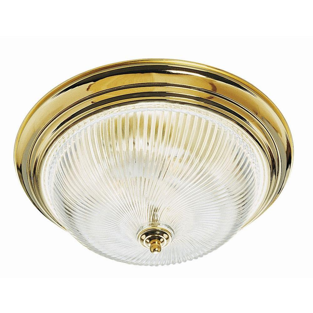 Design House 3-Light Polished Brass Ceiling Fixture with Clear ...
