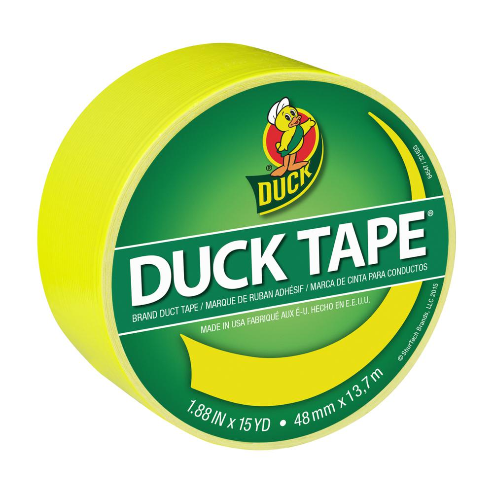 Duck 1.88 in. x 15 yds. X-Factor Yellow Duct Tape (6-Pack)
