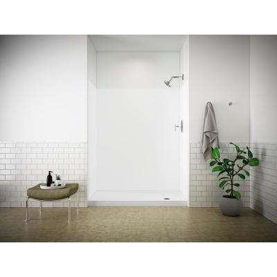Choreograph 32 in. x 60 in. x 72 in. Shower Kit with Right Hand Drain in White
