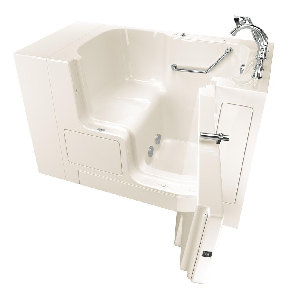 Gelcoat Value Series 4.3 ft. Walk-In Soaking Tub with Outward Opening Door in Linen