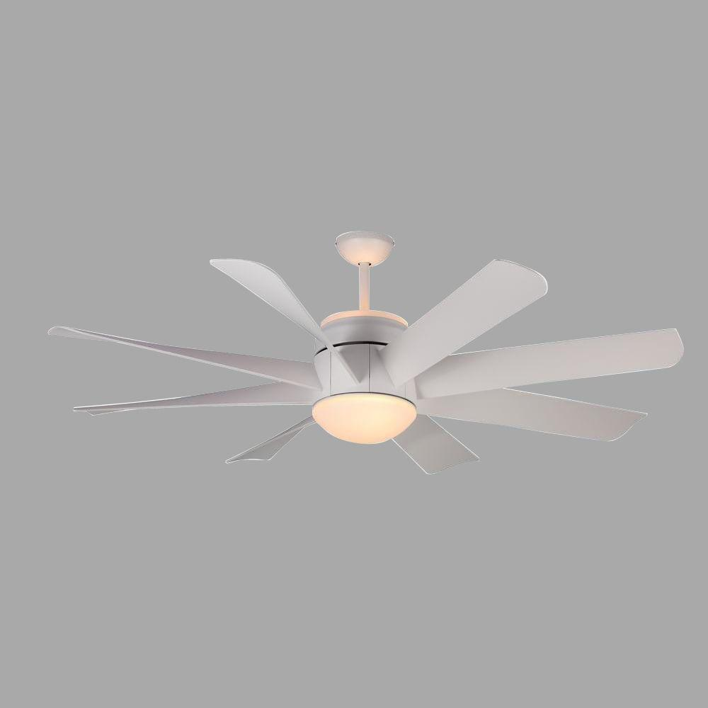 Monte Carlo Turbine 56 In Rubberized White Ceiling Fan
