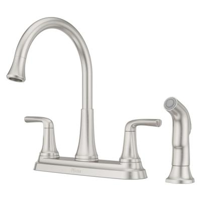 Ladera 2-Handle Standard Kitchen Faucet with Optional Side Sprayer in Spot Defense Stainless Steel
