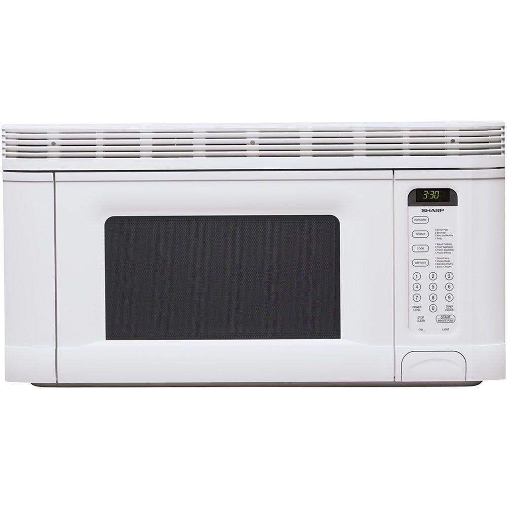 Sharp Refurbished 1.4 cu. ft. Over the Range Microwave in White-DISCONTINUED