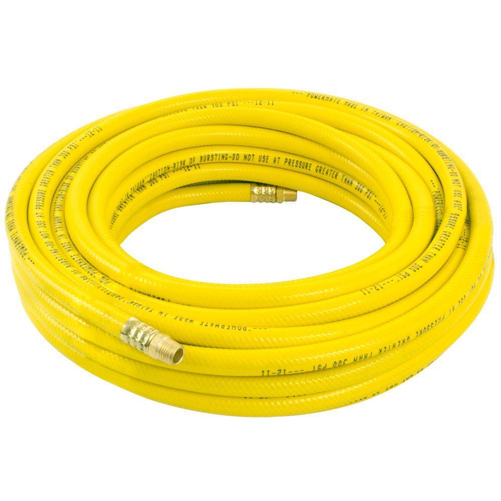 Coleman Powermate Inc 50 ft. x 3/8 in. Yellow PVC Air Hose