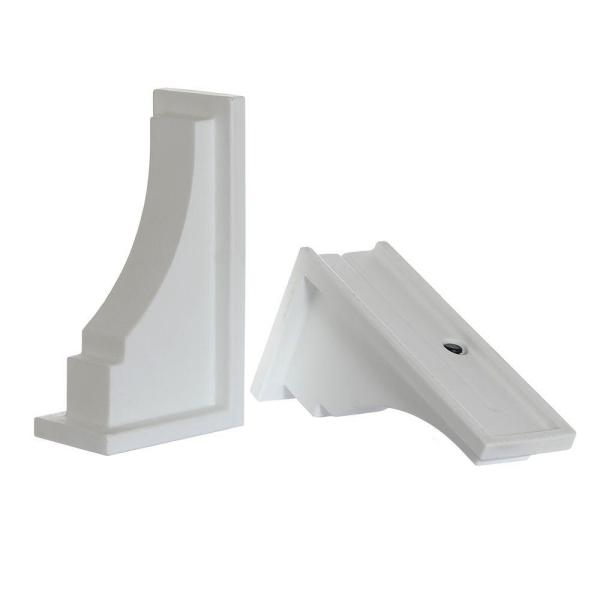 Fairfield White Resin Decorative Brackets (2-Pack)