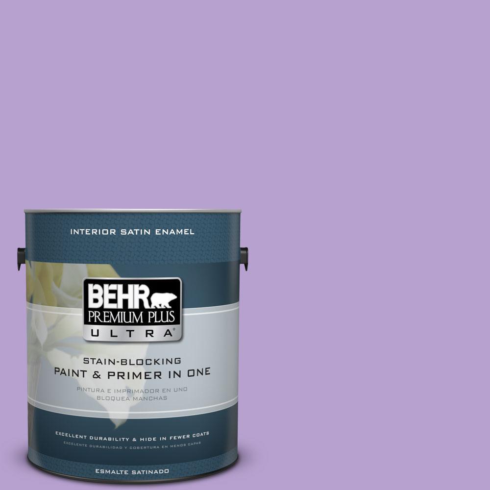 BEHR Premium Plus Ultra 1-gal. #P570-3 Flower Girl Satin Enamel Interior Paint