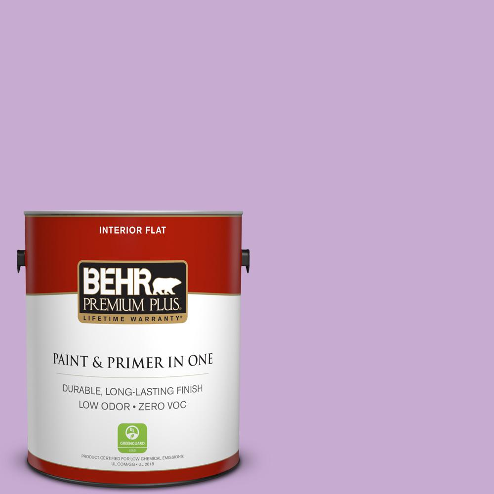 1 gal. #660B-4 Pale Orchid Flat Zero VOC Interior Paint and