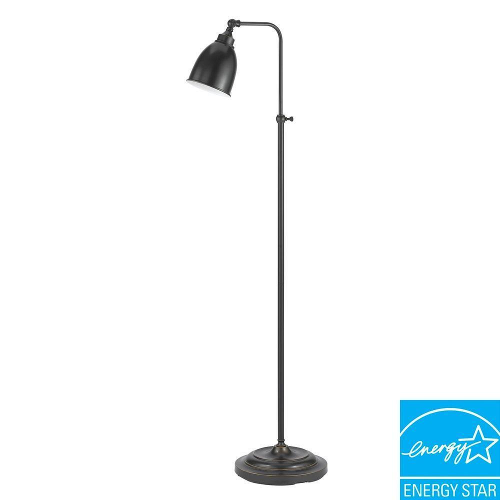 62 in. Dark Bronze Metal Adjustable Pharmacy Floor Lamp