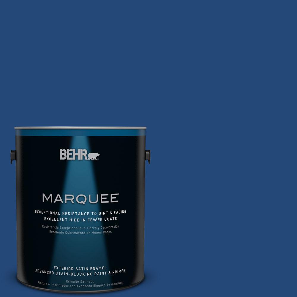 BEHR MARQUEE 1-gal. #S-H-590 Sailboat Satin Enamel Exterior Paint