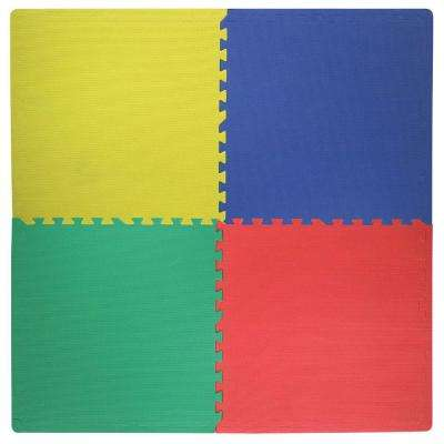 24 in. x 24 in. x .47 in. Primary Color All Purpose Flooring (4-Pack)