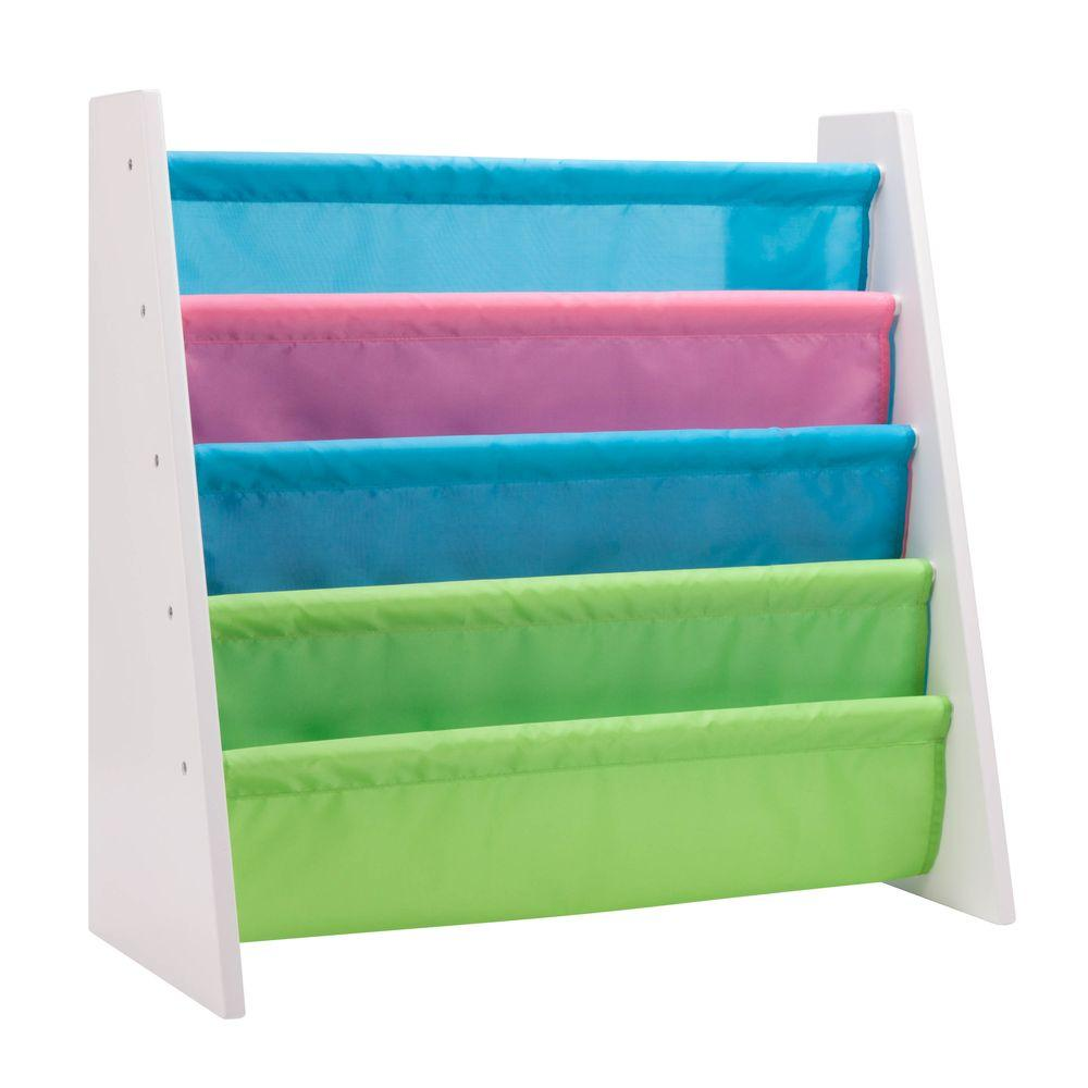 Itsy-Bitsy White Freestanding Kids Book Rack