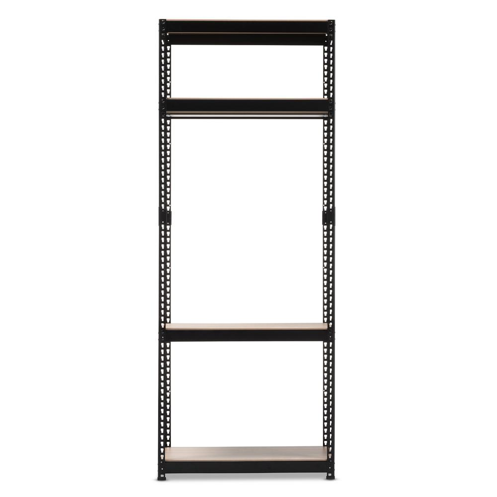 Gavin Black Metal 4-Shelf Closet Storage Racking Organizer