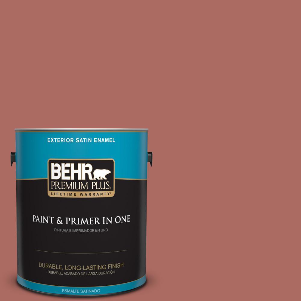 1 gal. #PPU2-13 Colonial Brick Satin Enamel Exterior Paint