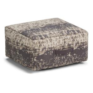 Astonishing Simpli Home Tilley Transitional Square Pouf In Taupe Grey Gmtry Best Dining Table And Chair Ideas Images Gmtryco