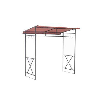 Avon 7 ft. x 4.6 ft. Rust Grill Soft Top Gazebo